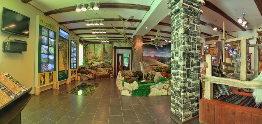екотуристичний візит-центр Карпатського національного природного Парку (фото взято з cnnp.if.ua)