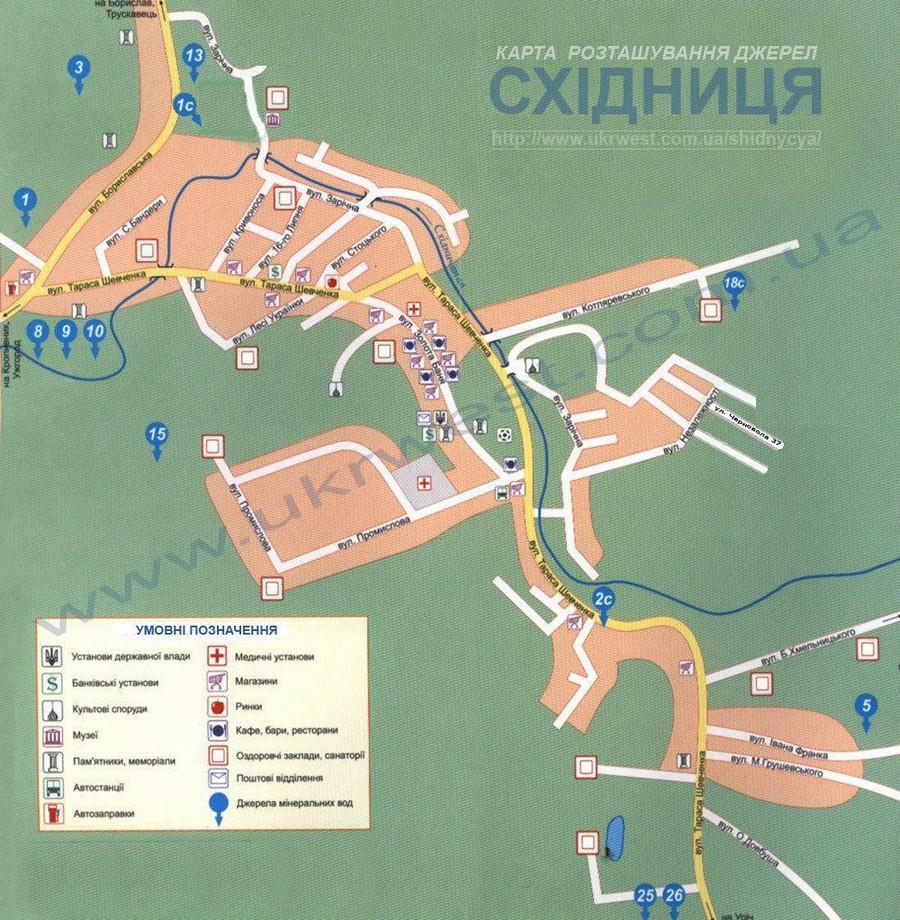 Східниця карта джерел