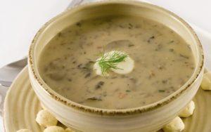 Суп з сухих білих грибів
